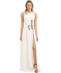 STEFANO DE LELLIS | Платье Из Крепа С Вышивкой