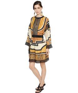 Alberta Ferretti | Платье Из Кружева И Шёлка Хаботай