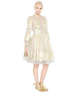 Alberta Ferretti | Платье Из Шёлкового Кружева И Люрекса