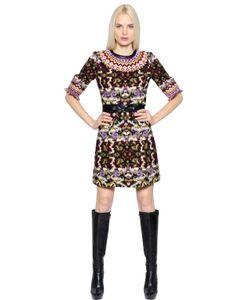 Andrew Gn | Платье Из Полушерстяного Жаккарда И Кожи