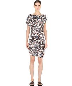 Blugirl Beachwear | Платье Из Лайкры С Леопардовым Принтом И Вышивкой