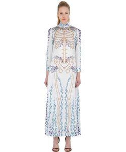 DAGDA | Платье Из Техноатласа С Принтом Skeleton Ivy
