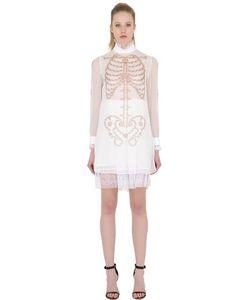 DAGDA | Платье Из Техношифона С Принтом Skeleton