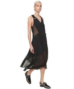 Damir Doma | Платье Из Техно-Атласа И Жоржет