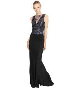 Francesca Piccini | Платье Из Шелка И Тюля