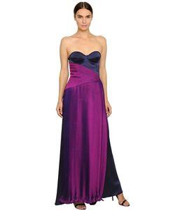 Francesca Piccini | Платье Из Шифона И Шёлкового Атласа
