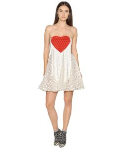 GIAMBA | Платье Из Органзы С Бахромой И Вышивкой