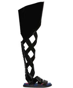 Kenzo | Сандалии Гладиаторы Из Лакированной Кожи 35mm