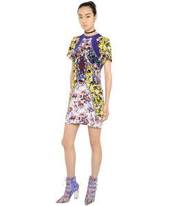 Mary Katrantzou   Платье Из Шёлкового Крепа С Цветочным Принтом