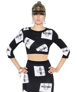 Moschino | Шерстяной Свитер С Принтом Shopping Bags