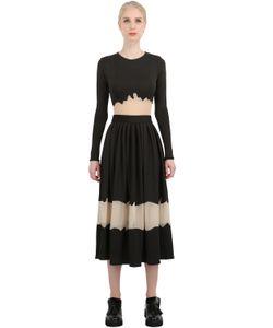NATARGEORGIOU | Платье Из Неопрена И Техно-Шифона