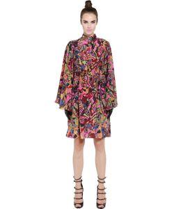 NEON | Платье-Накидка Из Шелкового Крепа