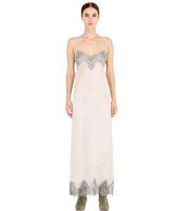 Pink Memories | Платье Из Шёлкового Крепа С Кружевом