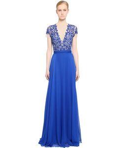 Reem Acra   Платье Из Шелка И Шифона