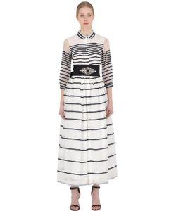 SARA ROKA | Платье Из Шёлковой И Хлопковой Органзы