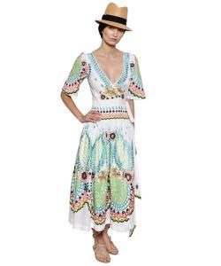 Temperley London | Платье Из Хлопкового Муслина С Вышивкой