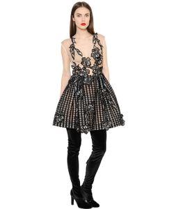Alberta Ferretti | Платье Из Шёлковой Органзы С Вышивкой