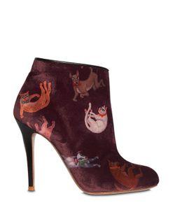CAMILLA ELPHICK | Бархатные Ботильоны Raining Cats Dogs 105mm