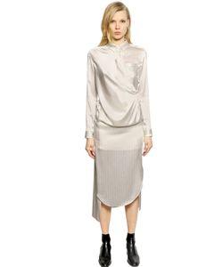 Each X Other | Платье Из Шёлкового Атласа В Тонкую Полоску