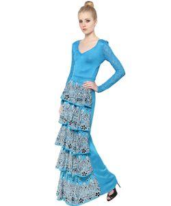 EKATERINA KUKHAREVA | Платье Из Жаккарда С Многослойными Рюшами