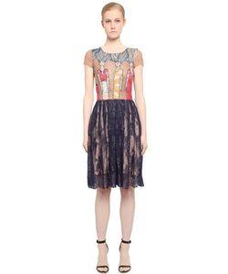 FABIANA MILAZZO | Платье Из Тюля И Кружева С Вышивкой