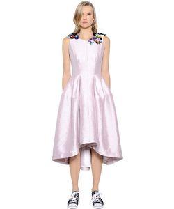 Gaowei+Xinzhan | Платье Из Жаккарда С Вышивкой