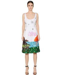 GEM | Платье Из Дюшес С Вышивкой