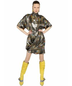 J.W. Anderson | J.W.Anderson Платье Из Шёлка И Люрекса С Высоким Воротом