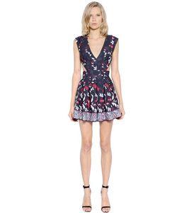 PAT BO | Платье Из Технокрепа И Тюля