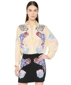 Stella Mccartney | Рубашка Из Шелка С Вышивкой