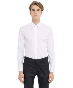 DANIELE ALESSANDRINI GREY | Рубашка Из Хлопкового Стрейч Поплин