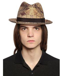 Etro   Соломенная Шляпа С Принтом Пейсли