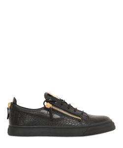Giuseppe Zanotti Design | Кожаные Кроссовки С Крокодиловым Тиснением