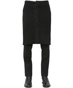 Givenchy | Юбка Из Шерстяного Трикотажа