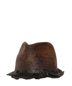Move   Шляпа Из Кожи И Соломы С Винтажным Эффектом