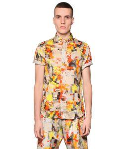 BASSO&BROOKE STUDIO | Рубашка Из Шелка И Хлопка В Принтом Digital