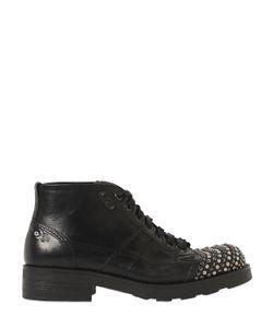 Oxs | Кожаные Ботинки С Заклёпками