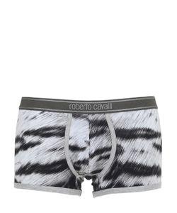 Roberto Cavalli Beachwear | Roberto Cavalli Underwear Трусы-Боксеры Из Джерси С Тигровым Принтом