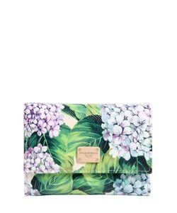 Dolce & Gabbana | Кожаный Кошелёк С Принтом Цветов Гортензии