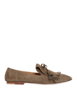 Pomme D'Or | 10mm Fringed Suede Loafers