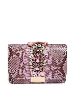Gedebe | Jeweled Python Clutch