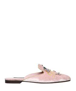 Dolce & Gabbana | Бархатные Туфли-Мюли Jackie 10Мм