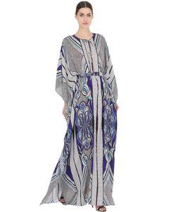 LARUSMIANI   Шёлковое Платье-Кафтан С Цветочным Принтом