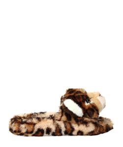 Dolce & Gabbana | Шлёпанцы Из Плюша С Леопардовым Принтом 20mm