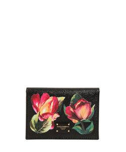 Dolce & Gabbana | Кредитница Из Тиснёной Кожи С Цветочным Принтом