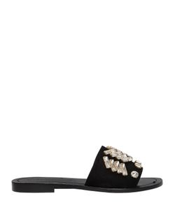 VENTI 12 | 10mm Embellished Suede Slide Sandals
