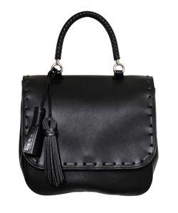 Max Mara | Bobag Leather Top Handle Bag W Tassels
