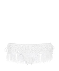 Ermanno scervino lingerie   Fringed Lace Lycra Bikini Bottoms