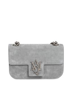 Alexander McQueen | Medium Insignia Suede Leather Bag