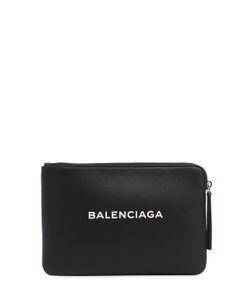 Balenciaga   Кожаный Клатч С Принтом Логотипа
